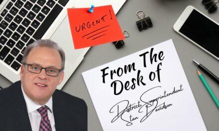 Urgent News from District Superintendent Stan Davidson